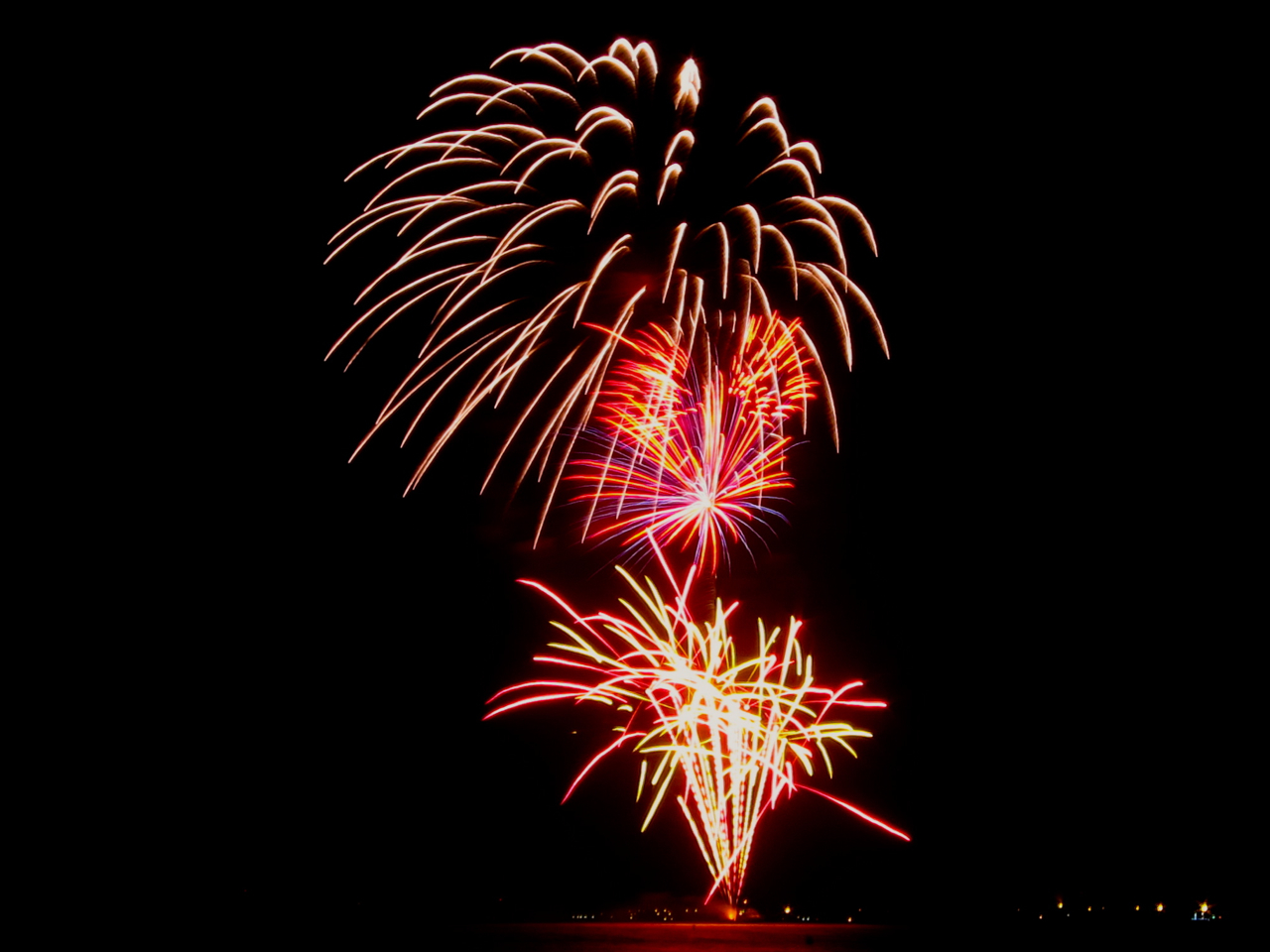 Fireworks over Seven Mile Beach