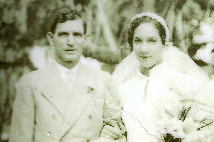 Joseph and Cynthia Pereira - 1937 - Wedding Day